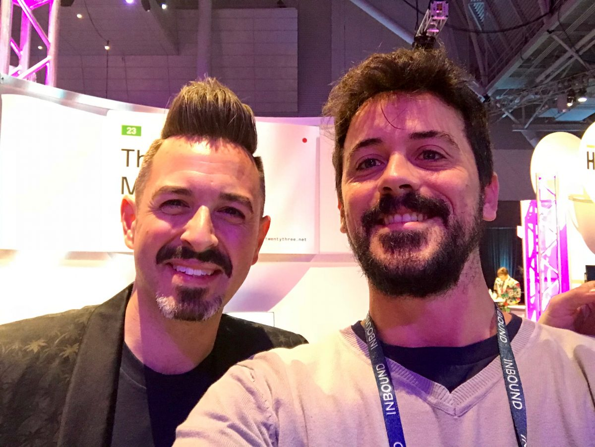 Rand Fishkin e Marco Ziero all'edizione 2017 di Inbound, Boston
